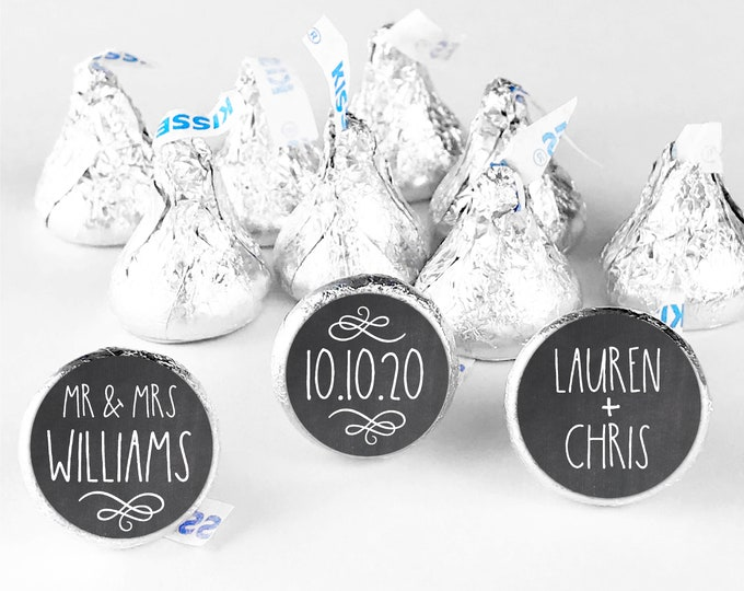 Hershey kisses sticker, Hershey kiss wedding sticker, Custom stickers by Blooms