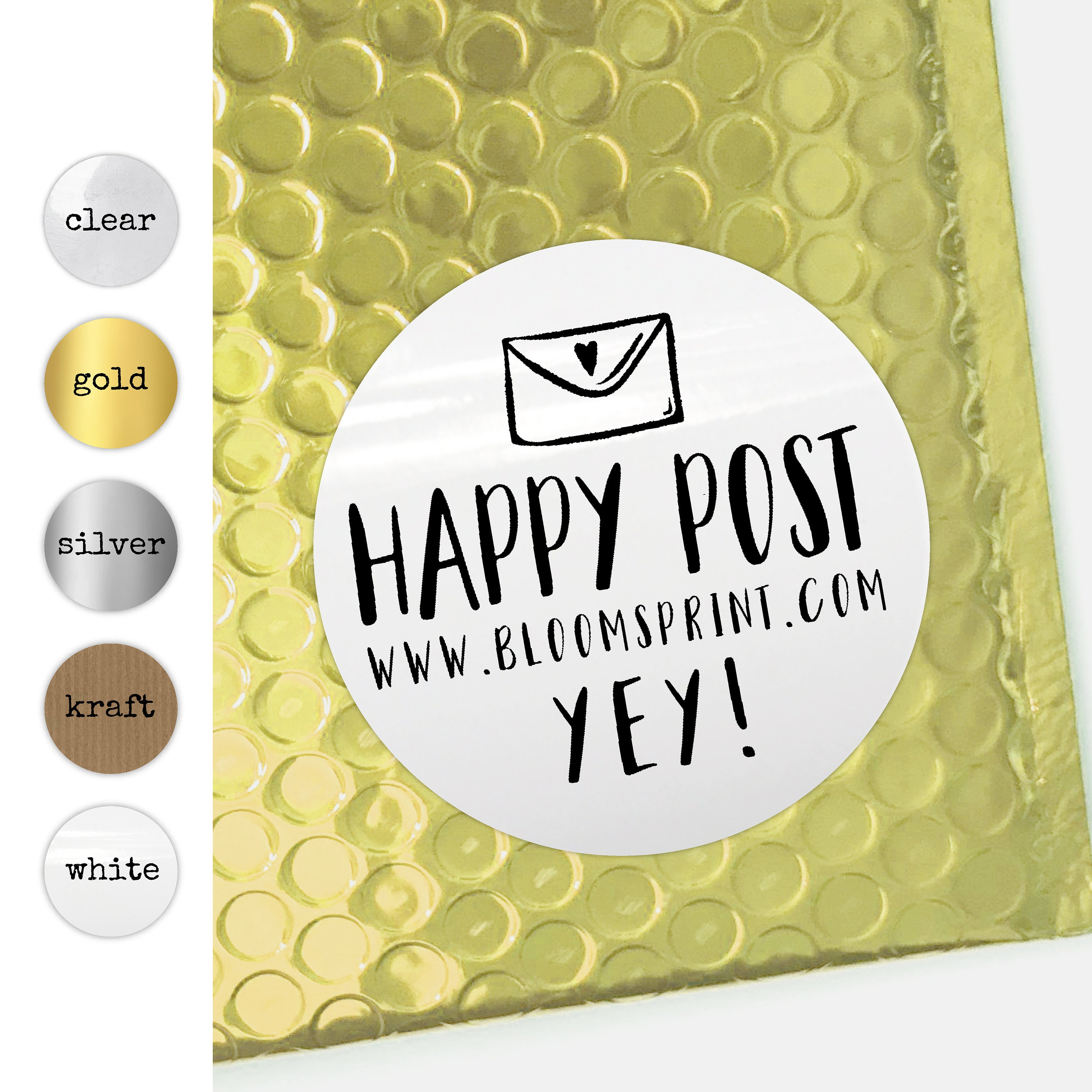 Happy post stickers personalised stickers round packaging stickers set small business labels custom stickers