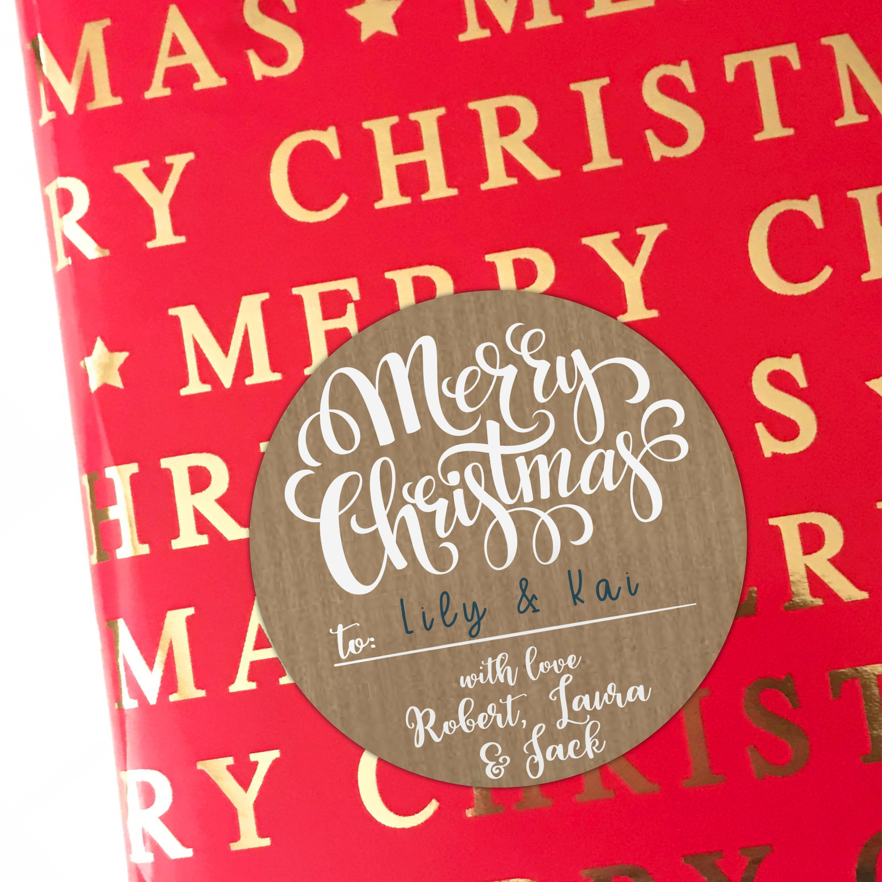 custom christmas labels stickers for christmas gifts custom labels