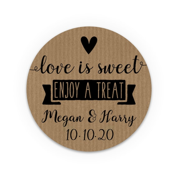Thank You Stickers Love Is Sweet Stickers Wedding Stickers For Party Bags Country Wedding Favors For Guests Gift Wedding Favours UK Labels