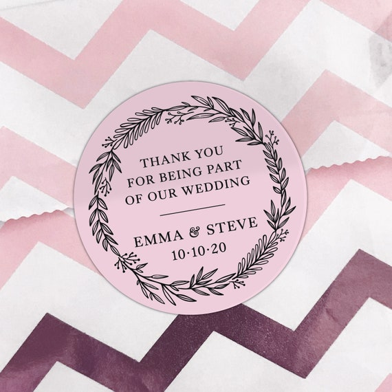 Custom stickers online, Wedding stickers seals for favor, Wedding stickers for gift bags, Personalised labels online, Custom labels stickers