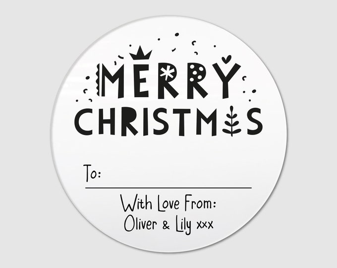 Christmas Gift Name Tags Stickers from Santa Wrapping Ideas Custom Tags with Logo Christmas Gift Tag Personalized Xmas Present Tags