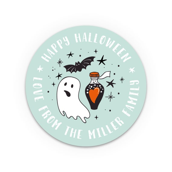 Halloween stickers, Gift bag party favors, Goody bag labels, Halloween decor, Halloween favor stickers, Personalized stickers, Labels, Tags