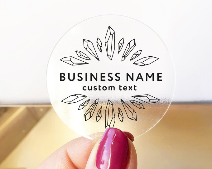 Custom Product Label Stickers, Personalized Business Labels, Logo Sticker Sheet, Round Packaging Decals, Circle Jar Labels