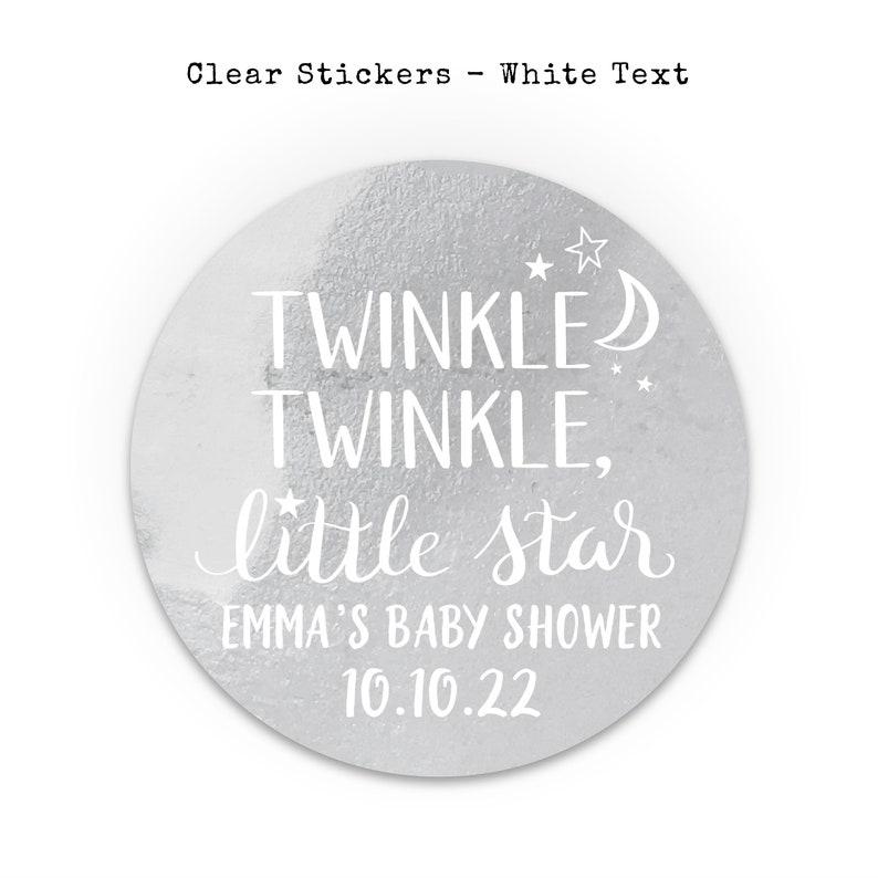 Twinkle twinkle little star baby shower stickers Twinkle twinkle little star labels