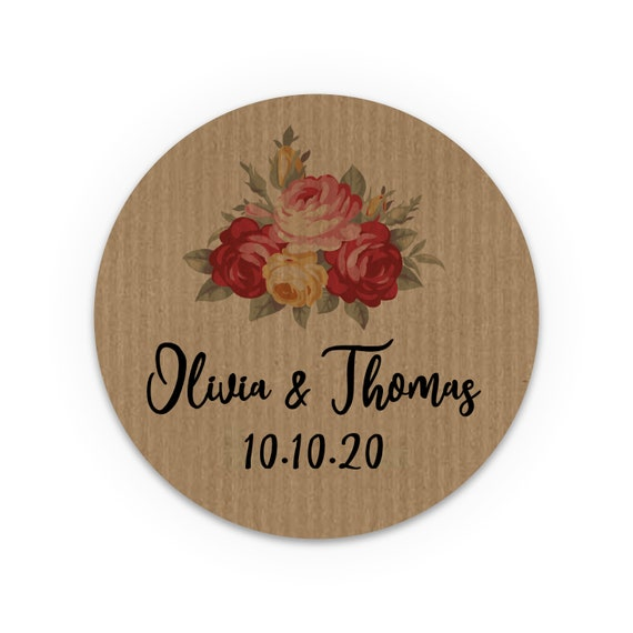 Custom stickers, Wedding favors for guests, Wedding favor sticker, Wedding favours, Thank You Stickers, Wedding labels, Custom labels, Kraft