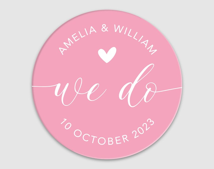 Personalised wedding stickers for wedding favours for guests, Round sticker labels for jars, Favor stickers wedding favours boxes