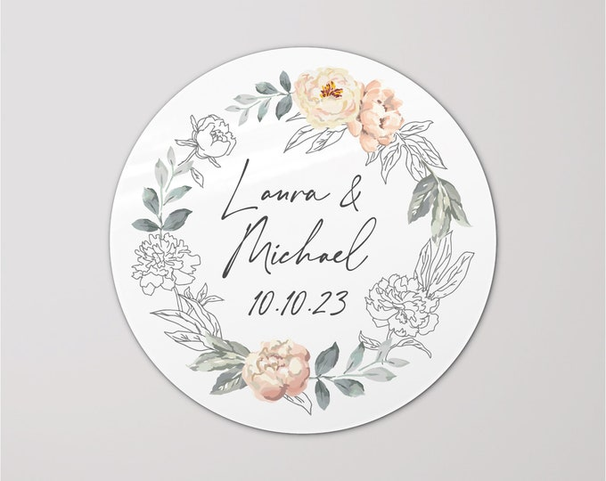 Welcome wedding custom favours thanks stickers labels, Personalised labels for wedding invitation, Personalized stickers wedding