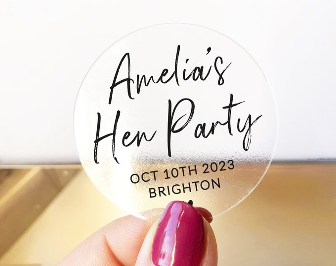 Personalised hen party stickers for favours bride tribe stickers, Bachelorette party labels, Hen do stickers, Team bride stickers