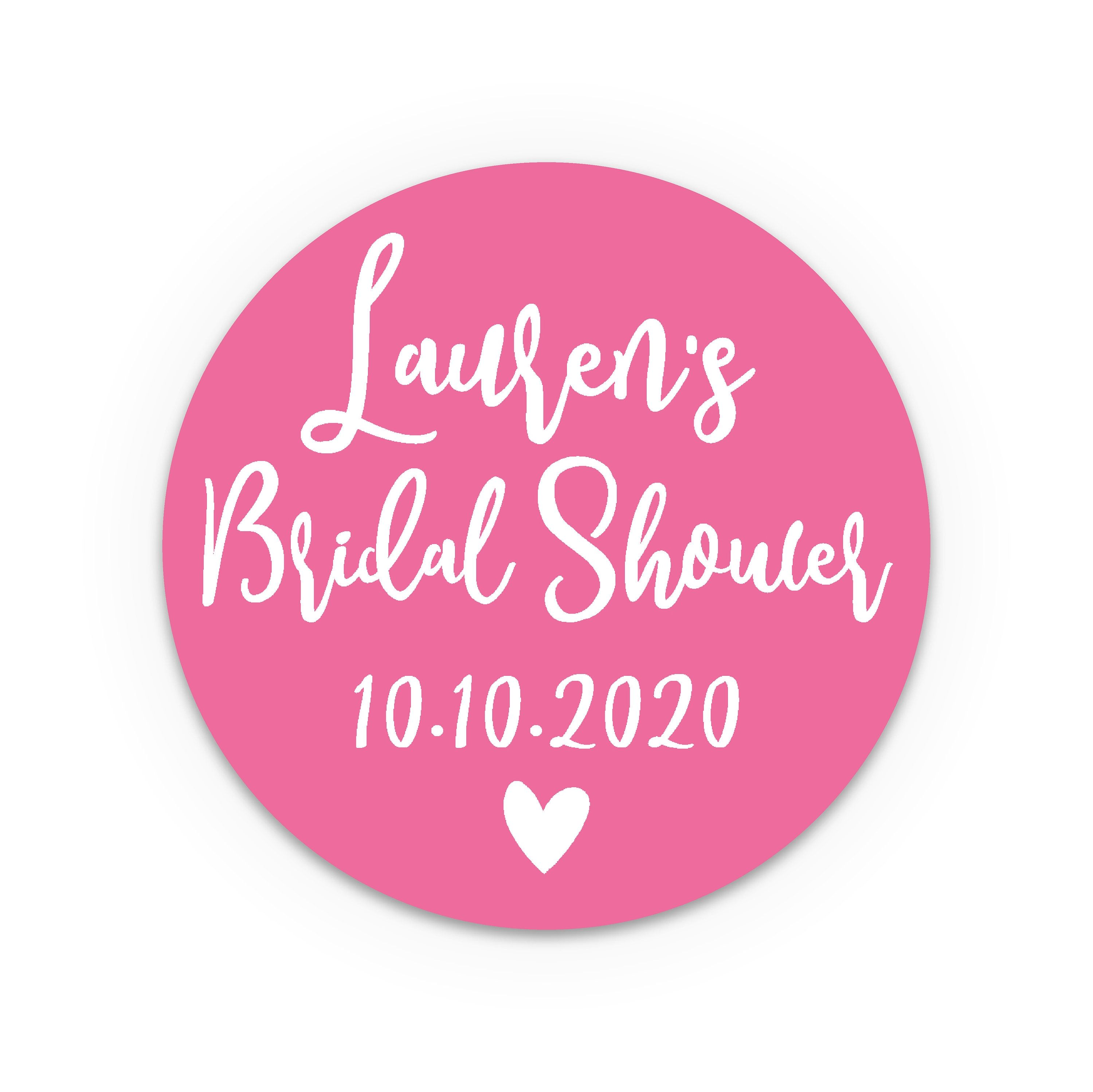 Bridal shower favors, Bridal shower gift, Custom stickers for party ...