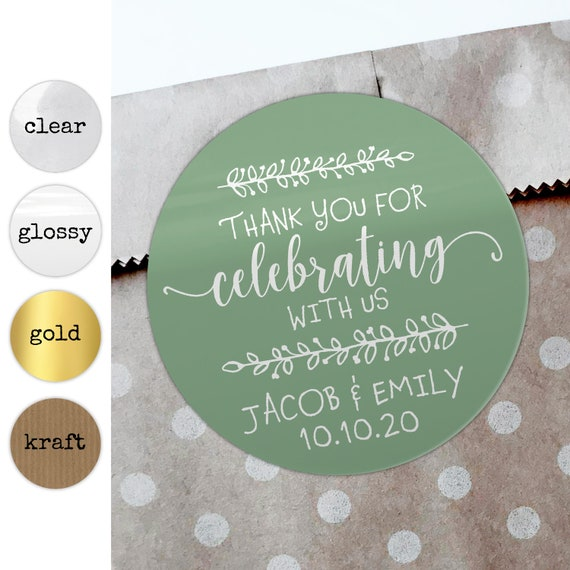 Personalized wedding favors sticker labels, Custom stickers wedding favors for guests, Wedding favor sticker clear wedding stickers