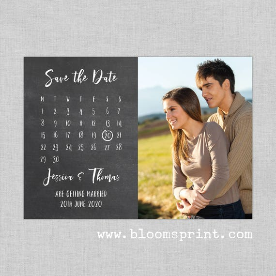Chalkboard calendar wedding save the date magnet prints, Save the date wedding fridge magnet, Calendar save the date cards, A6