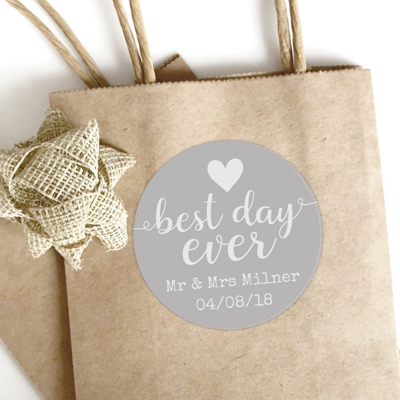 Rustic wedding favours for guests, Personalised stickers wedding, Wedding Favor Labels, Wedding Welcome, Best day ever, Thank you stickers