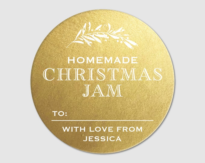 Christmas gift sticky tags personalized labels stickers, Labels for homemade jam labels, Product labels,