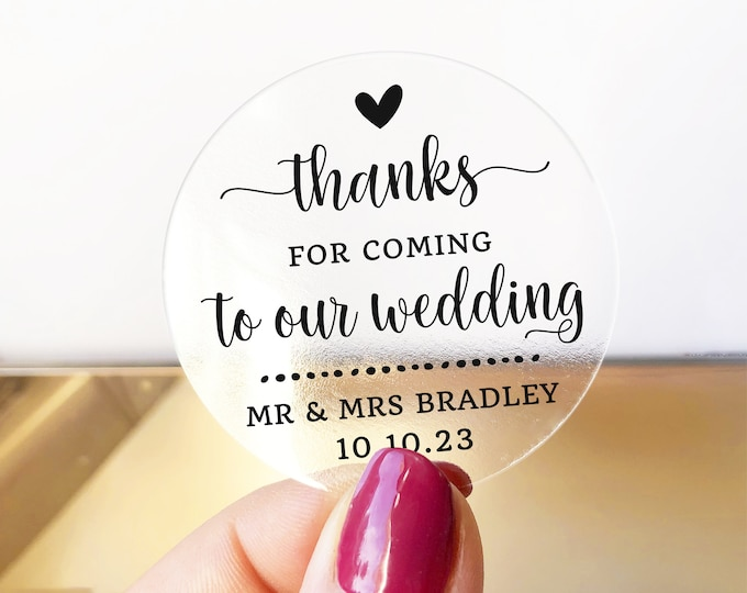 Custom wedding favor thank you stickers labels, Wedding thank you stickers, Personalised sticker, Party favor stickers