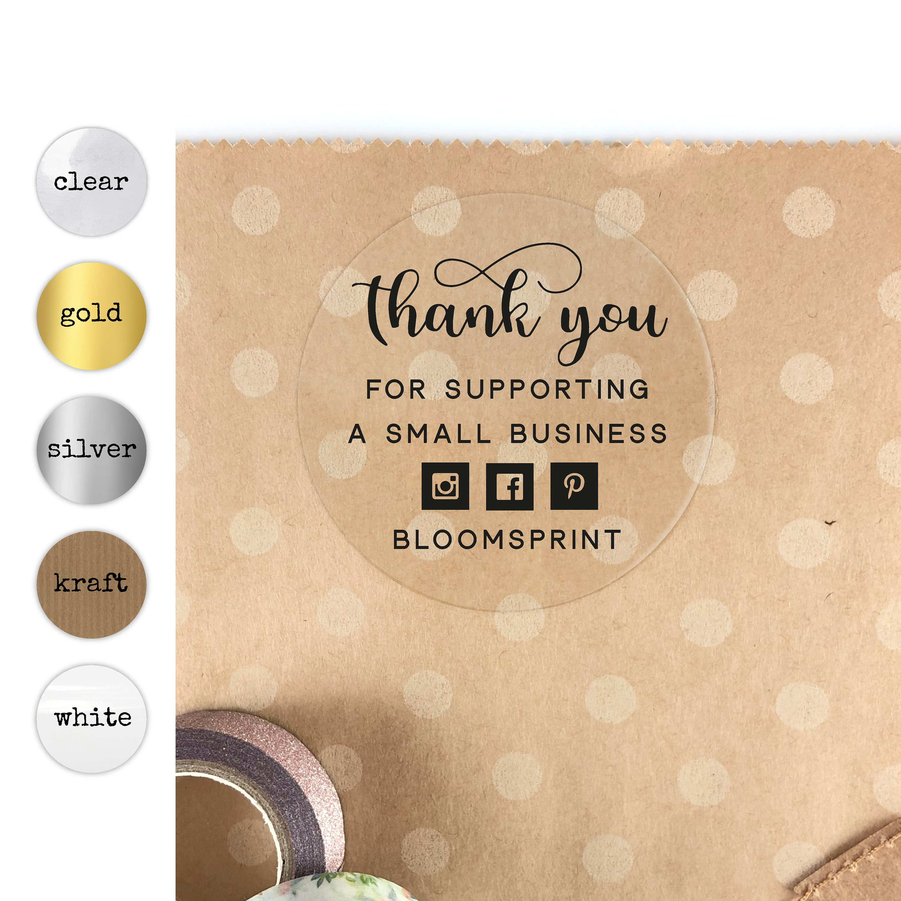 Thank you for supporting a small business stickers thank you packaging stickers custom sticker labels for envelopes small business label