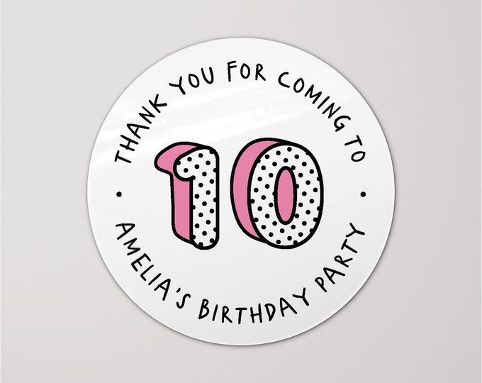Round thank you happy birthday circle labels stickers, Personalised sticker labels, Round gift sticker, Thank you birthday stickers