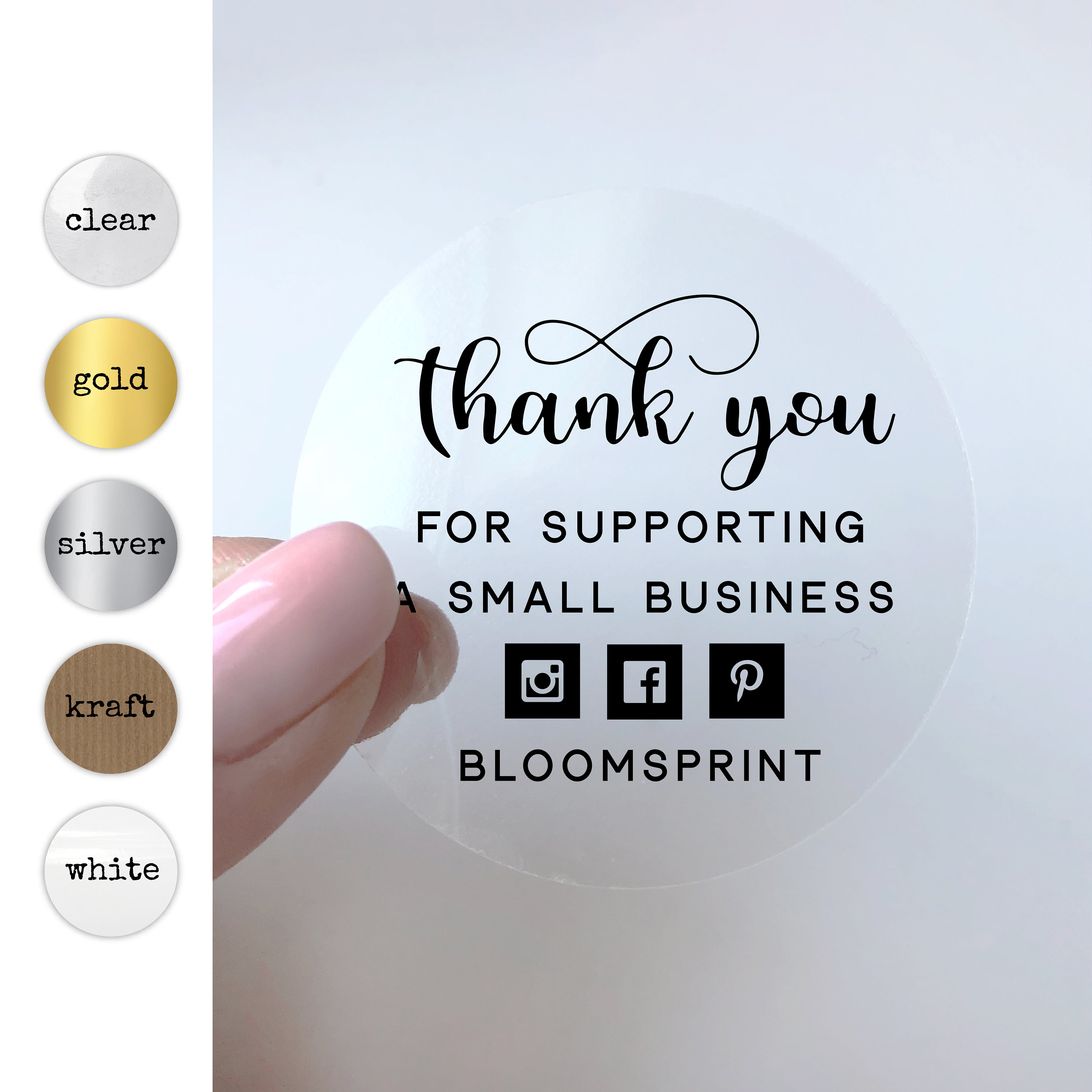 Thank you for supporting a small business stickers thank you