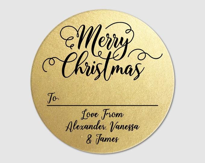 Personalized Sticker Sheet Budget Custom Christmas Gift Tags Stickers Labels Custom Christmas Gift Tag Personalized Xmas Present Tags