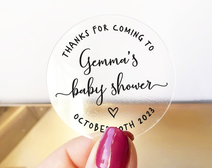 Oh baby shower favors gift bag stickers for baby shower, Baby shower labels, Personalized sticker, Shower favor sticker