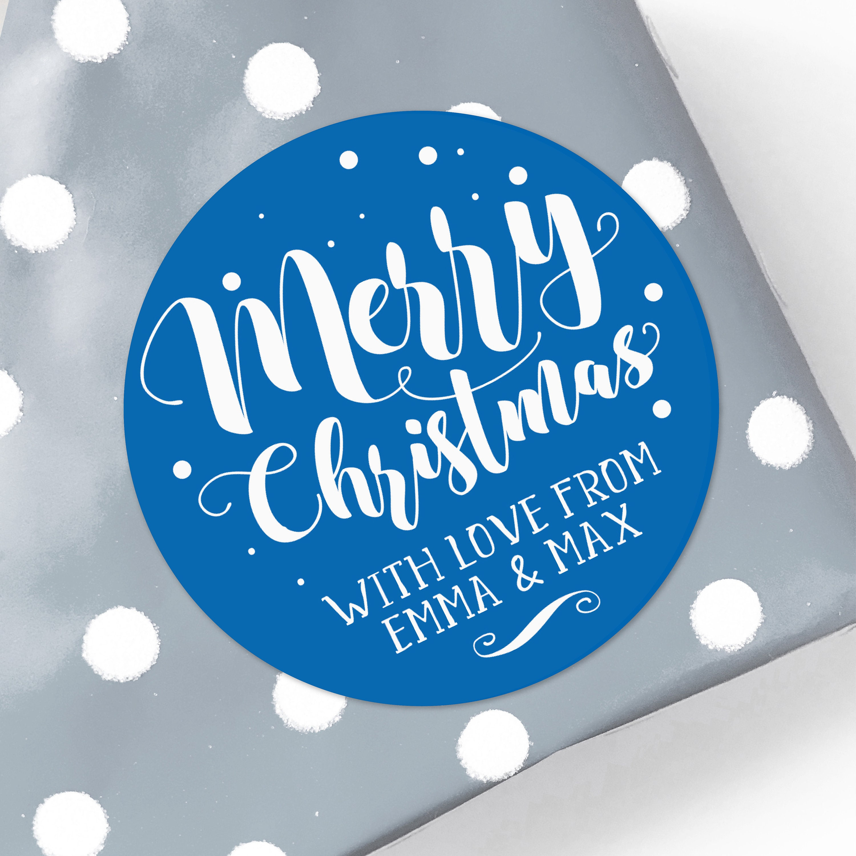 Custom christmas stickers, Personalized Holiday Gift Tags ...