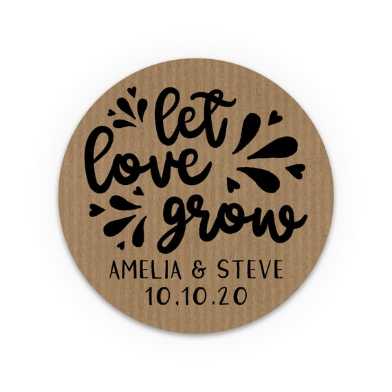 Personalised stickers, Personalized labels, Rustic, Let love grow, Favour stickers, Favor stickers, Hen party favour, Wedding favor stickers
