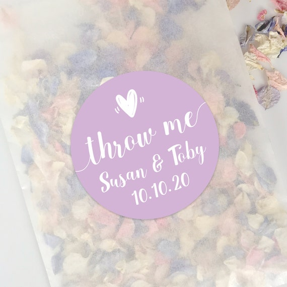Throw me stickers labels for confetti wedding confetti stickers, Round stickers label, Confetti popper label, Wedding day stickers