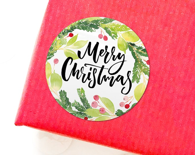 Merry Christmas Tags Decorative Stickers Christmas Store Unique Stickers Christmas Gift Tags Personalized Sticker Labels for Handmade Items
