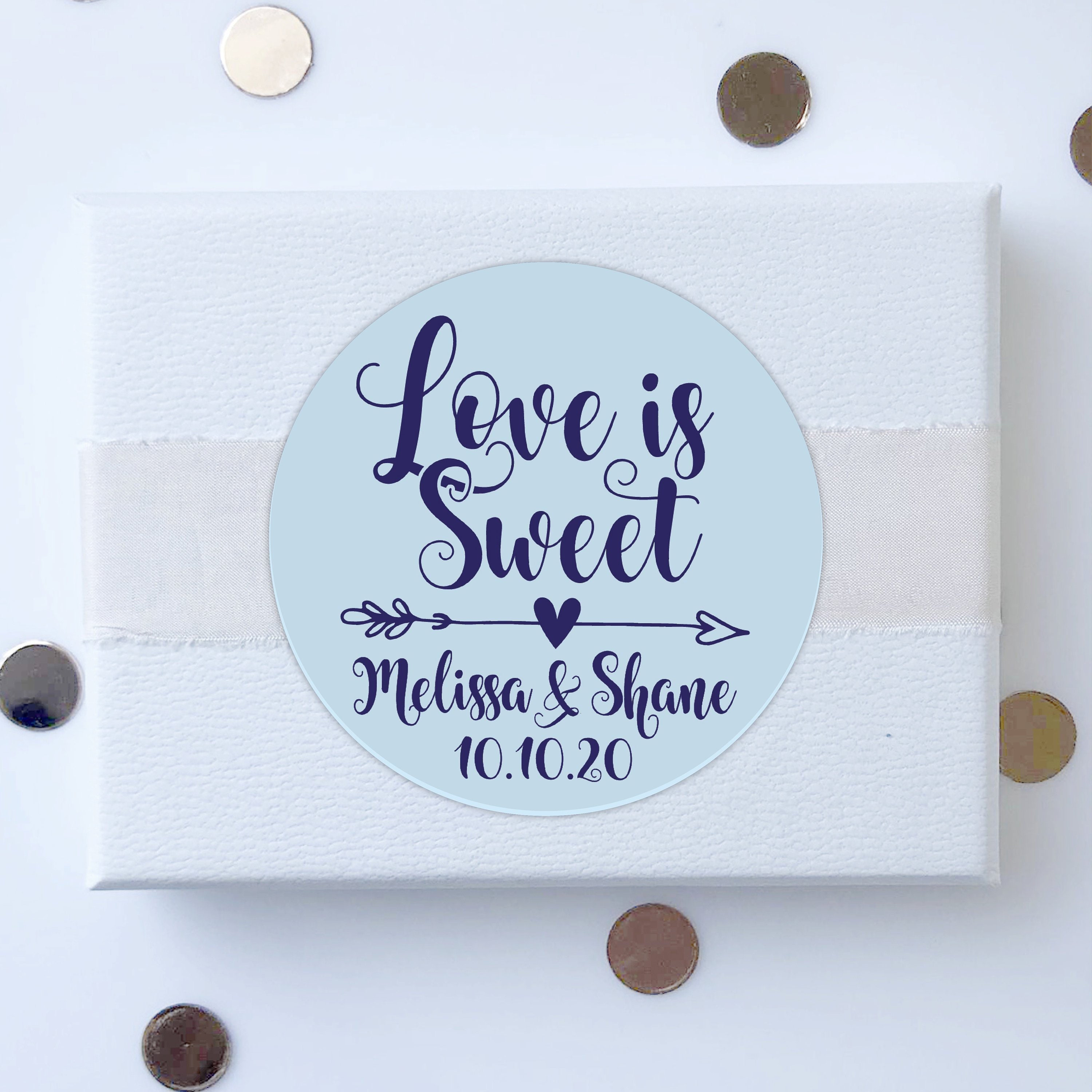 Love Is Sweet Wedding Stickers For Mason Jars Favours Labels Personalized Custom Jam