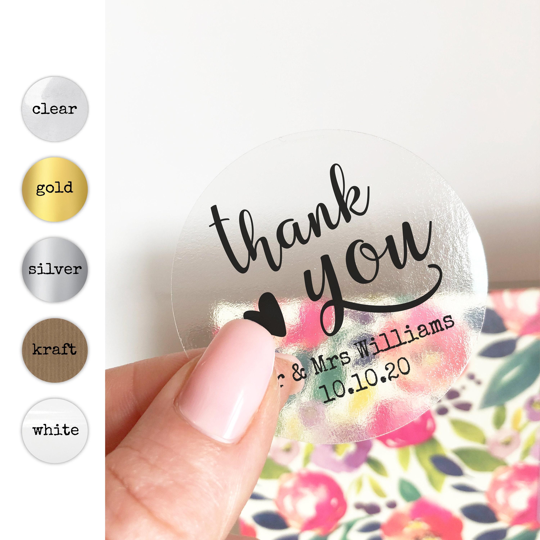 Custom wedding stickers labels for wedding favors wedding
