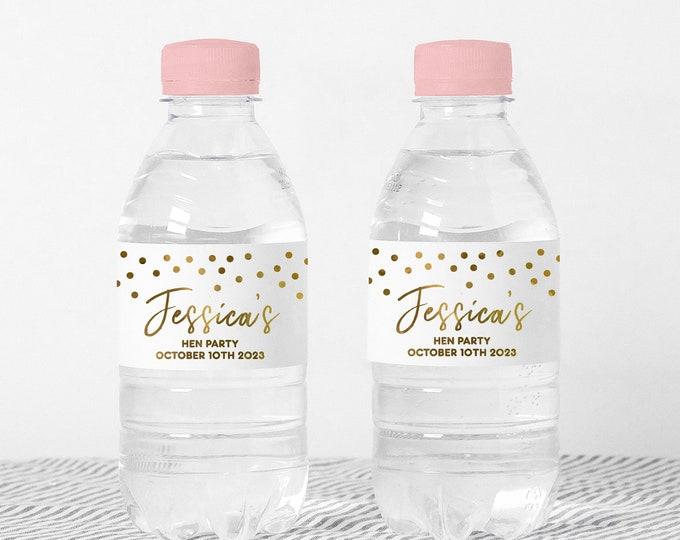 Custom wedding water bottle labels name stickers, Waterproof party favor stickers, Waterbottle wraps, Water bottle stickers girls
