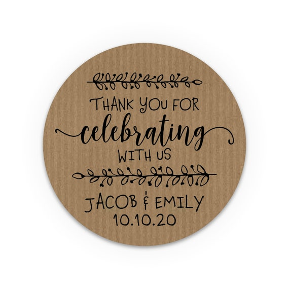 Wedding favors for guests, Custom stickers, Wedding favor sticker, Wedding favours, Custom labels, Thank you stickers, Rustic stickers