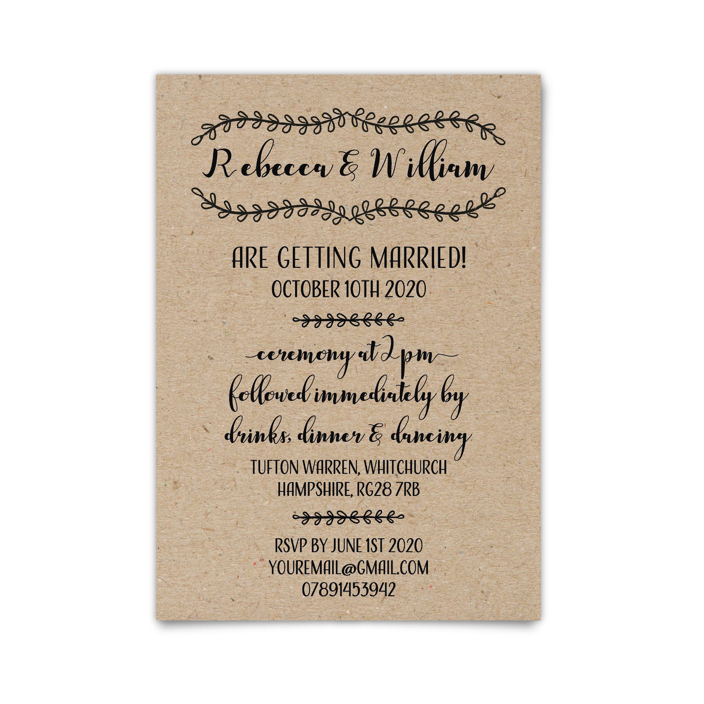 ac171b4689164 Custom Country Barn Wedding Invitations, Printed Wedding Invitation ...