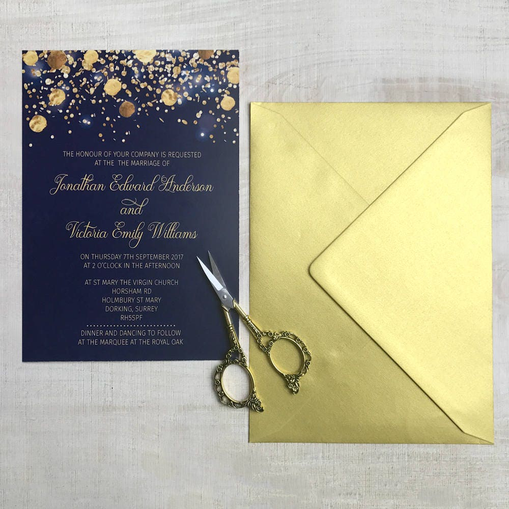 Navy Wedding Invitation Template, Wedding invites, Calligraphy ...