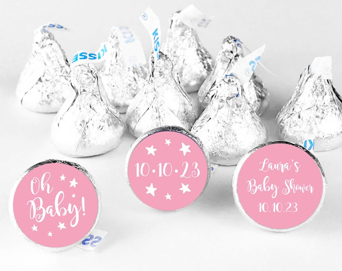Custom baby shower gifts favors stickers for hershey kiss, Hershey kiss labels, Shower hershey kisses, Baby shower labels