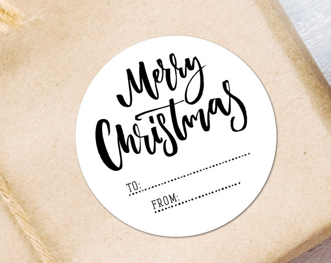 Personalized custom christmas gift tags labels stickers, Packaging Stickers Labels Present Tags, Wrapping Ideas Merry Christmas Stickers