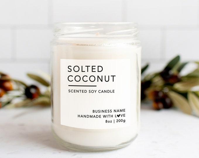 Personalized custom candle wedding favor stickers labels, Custom candle labels, Custom candle packaging, Custom label design