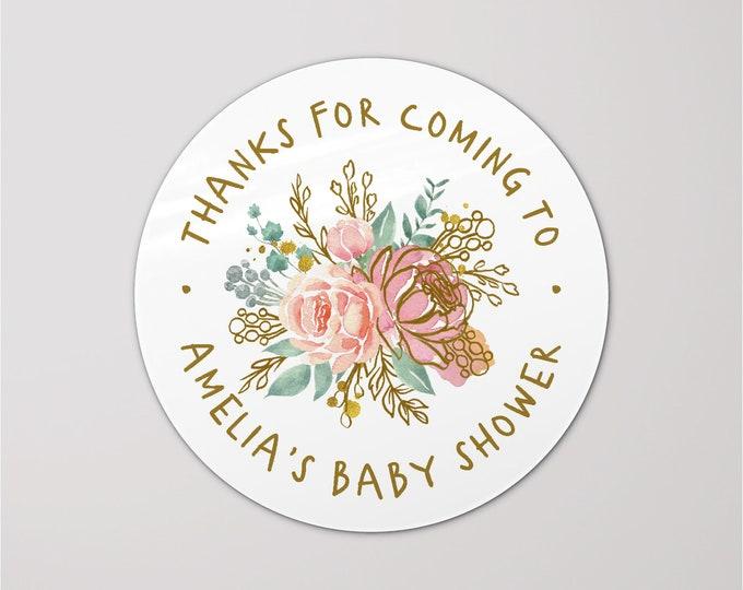 Custom baby shower favors gift bag stickers for baby shower, Baby shower labels, Personalized sticker, Shower favor sticker