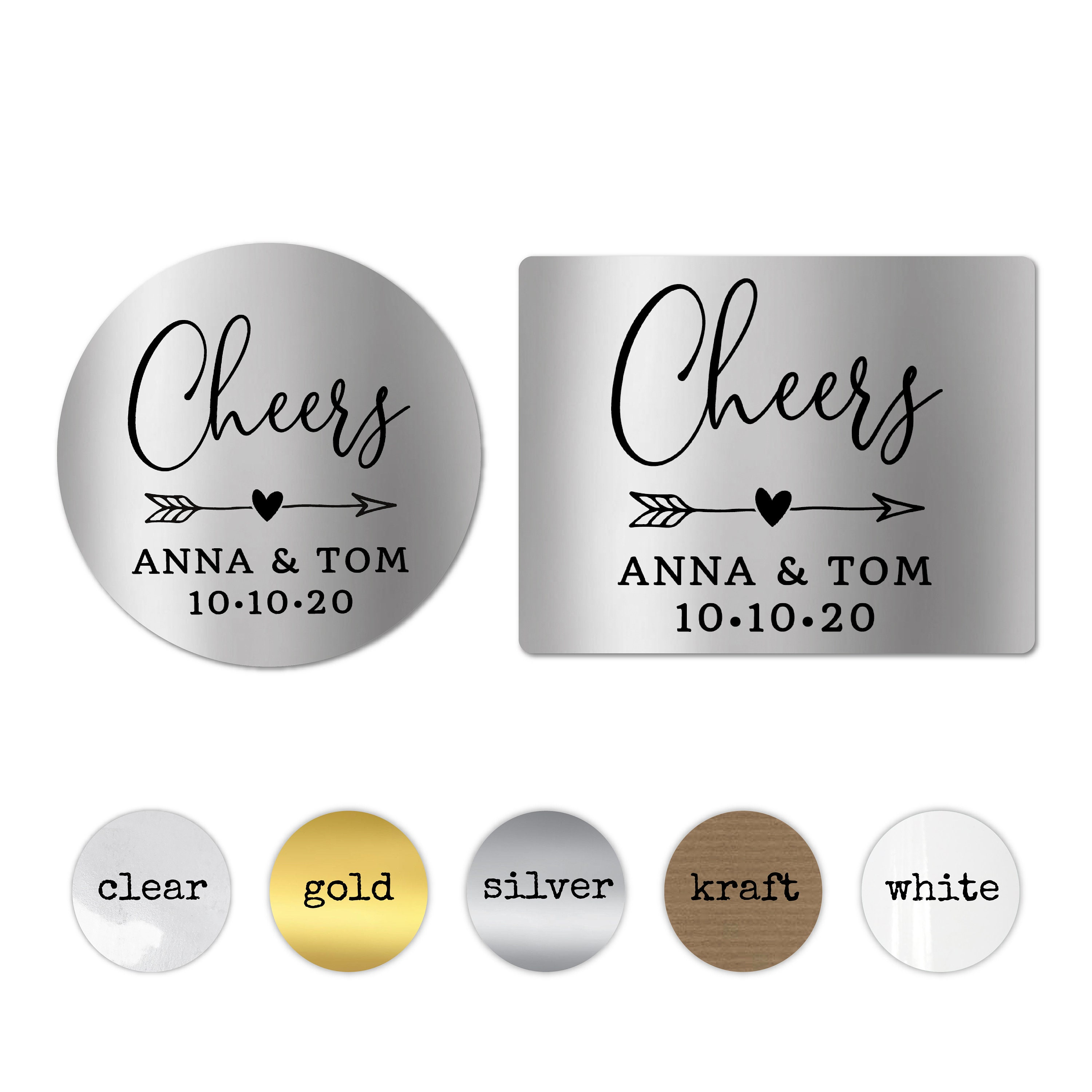 Cheers wedding stickers for glasses personalised wedding stickers round gold stickers