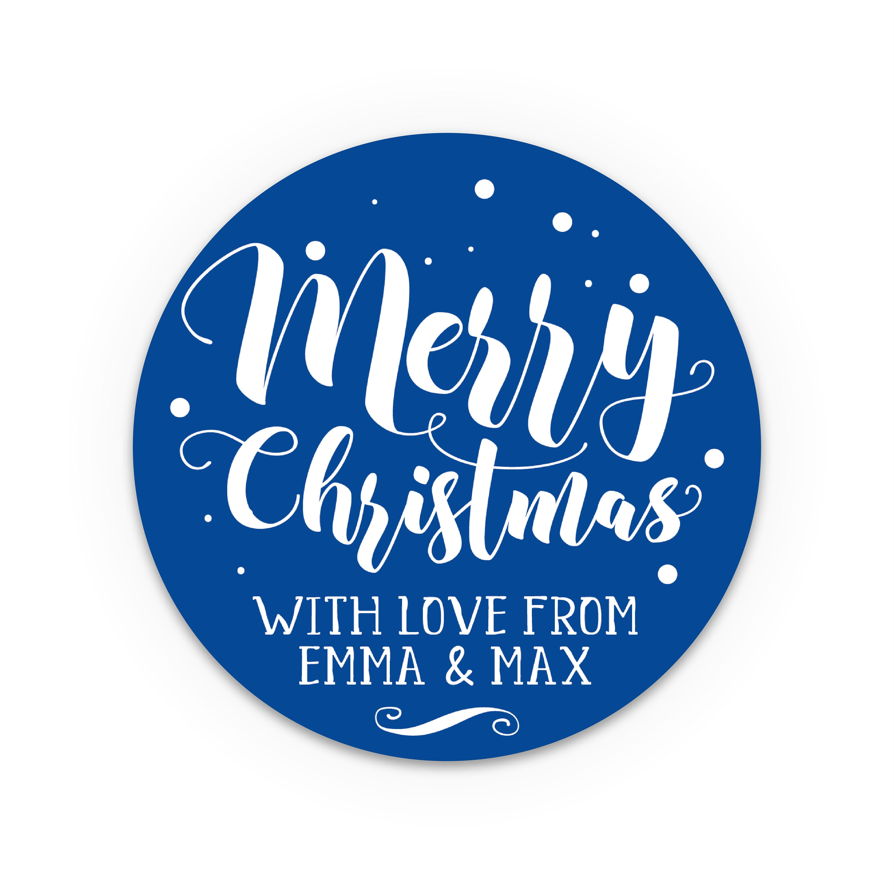 custom christmas stickers personalized holiday gift tags