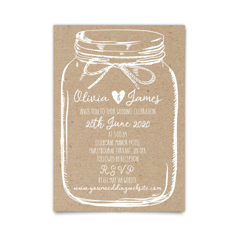 Mason Jar Wedding Invitations Suite Rustic Invites Invitation Country Invite: Brown Rustic Wedding Invitations At Reisefeber.org