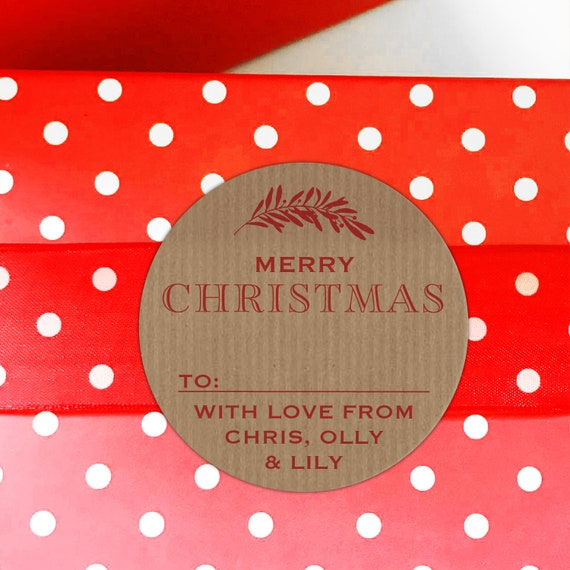 Kraft Christmas stickers, Merry Christmas label, Christmas stickers, Gift wrapping ideas christmas, Christmas personalized gift tags