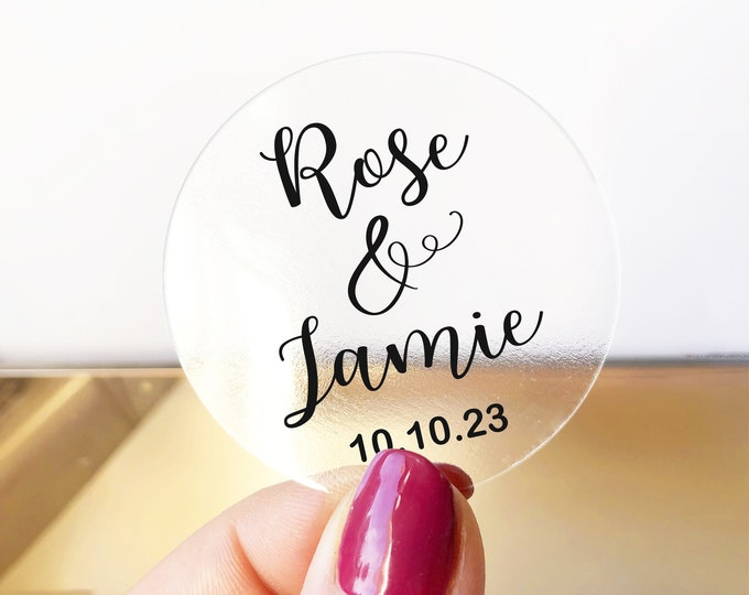 Wedding custom name favor thank you labels stickers sheet, Custom honey labels, Bee sticker labels for jars