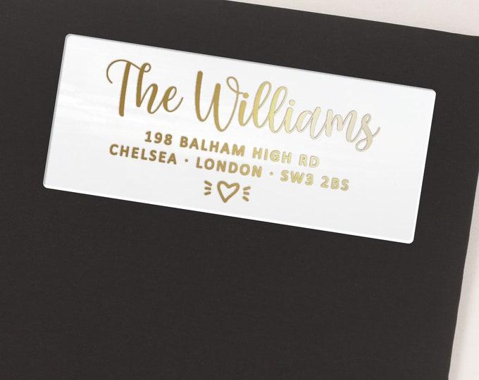 Return address mailing personalized custom labels stickers, Custom made mailing address labels  - 30 Stickers per Sheet
