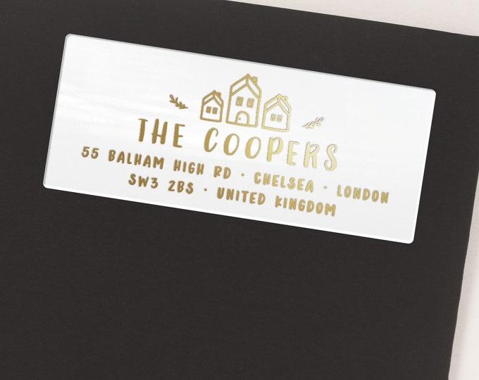 Return address labels, Personalized sticker labels, Return address for wedding  - 30 Stickers per Sheet