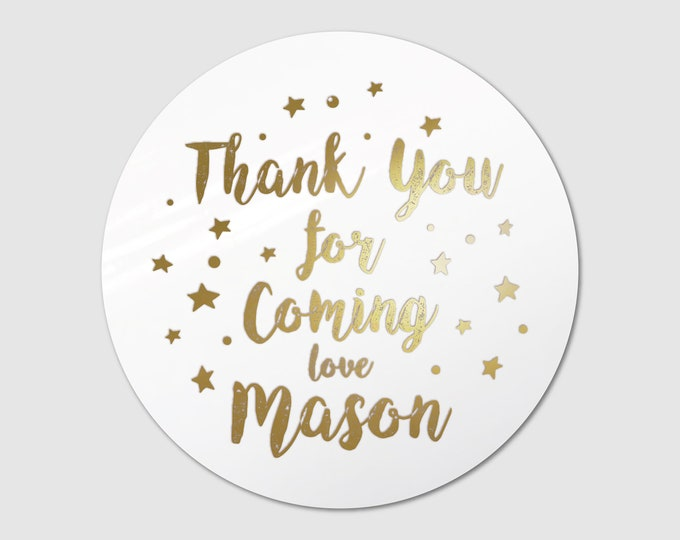 Thank you stickers birthday party bag labels, Thank you for coming to my party stickers,  Custom labels stickers, Favour bag stickers