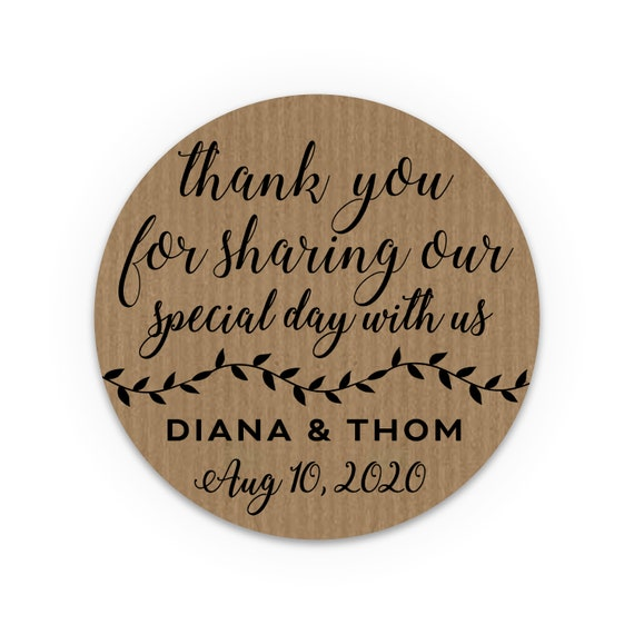 Thank You Stickers, Wedding favor labels personalized, Rustic stickers sheet, Fall wedding favors for guests, Wedding stickers for envelopes