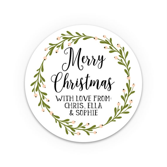 Personalised Christmas Stickers, Personalized Christmas Labels, Christmas tags for presents, Christmas Gift Sticker, Custom Tags