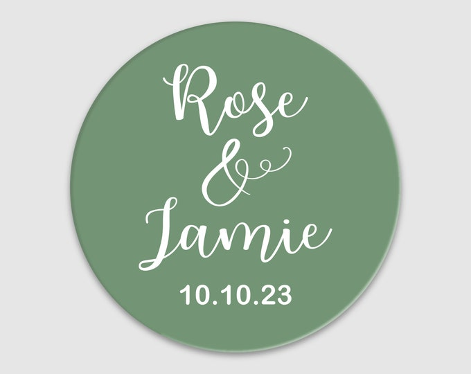 Personalized wedding thank you favor stickers, Thank you round labels,  Custom wedding favor labels, Party favor stickers