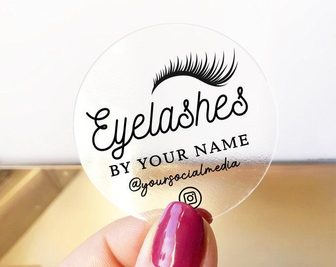 Custom logo design lash packaging instagram stickers business logo lash extensions, Makeup artist logo, Transparent stickers